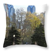 Sprintime At Rittenhouse Square Throw Pillow by Bill Cannon