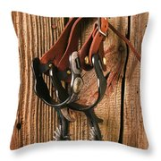 Spurs Throw Pillow by Garry Gay
