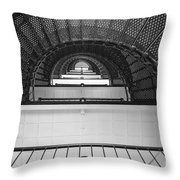 St. Augustine Lighthouse Spiral Staircase IIi Throw Pillow by Clarence Holmes