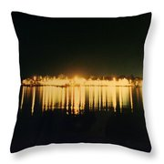St. Augustine Lights Throw Pillow by Kenneth Albin