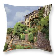 St Paul de Vence Throw Pillow by Guido Borelli
