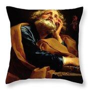 St Peter Throw Pillow by Pompeo Girolamo Batoni