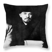 Stalin, Lenin & Trotsky Throw Pillow by Granger
