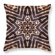 Star Of Cheetah Throw Pillow by Maria Watt