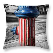 Star spangled banner Throw Pillow by John Farnan