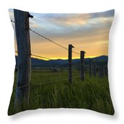 Star Valley Throw Pillow by Chad Dutson