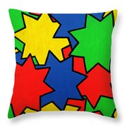 Starburst Throw Pillow by Oliver Johnston