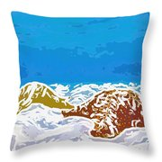 Starfish 1 Throw Pillow by Lanjee Chee