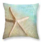 Starfish Throw Pillow by Betty LaRue