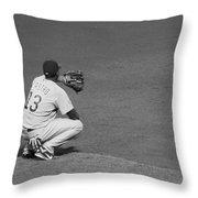 Starlin Castro Chicago Cubs Throw Pillow by Lauri Novak