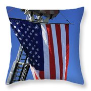 Stars and Stripes Throw Pillow by Karol  Livote
