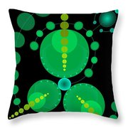 Starship color Throw Pillow by DB Artist