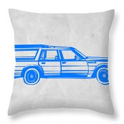 Station Wagon Throw Pillow by Naxart Studio