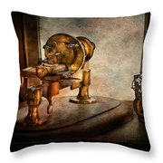 Steampunk - Gear Technology Throw Pillow by Mike Savad