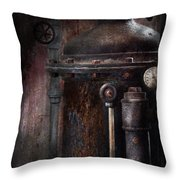 Steampunk - Handling Pressure  Throw Pillow by Mike Savad