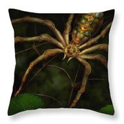 Steampunk - Spider - Arachnia Automata Throw Pillow by Mike Savad
