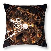 Steampunk Time Throw Pillow by John Rizzuto
