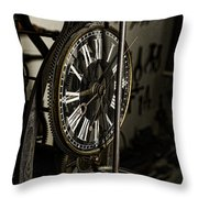 Steampunk - Timekeeper Throw Pillow by Paul Ward