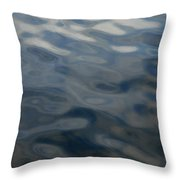 Steel Blue Throw Pillow by Donna Blackhall
