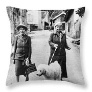 STEIN AND TOKLAS, 1944 Throw Pillow by Granger