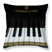 Steinway Grand Two Throw Pillow by Sam Hymas
