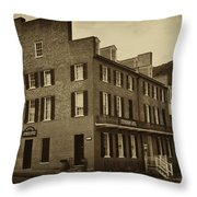Stephensons Hotel - Harpers Ferry  West Virginia Throw Pillow by Bill Cannon