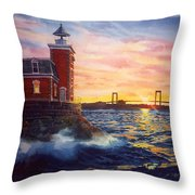 Steppingstones Light Throw Pillow by Marguerite Chadwick-Juner