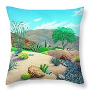 Steves Yard Throw Pillow by Snake Jagger