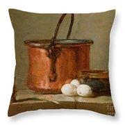Still Life Throw Pillow by Jean-Baptiste Simeon Chardin