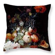 Still Life  Throw Pillow by Johann Amandus Winck