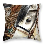 Stirrup Up Throw Pillow by Nadi Spencer
