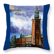 Stockholm Sweden Throw Pillow by Irina Sztukowski