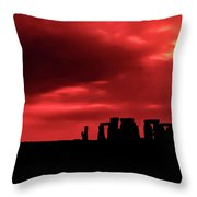 Stonehenge II Throw Pillow by Steve Harrington