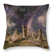Stonehenge Throw Pillow by John Constable