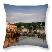 Stonington Lobster Co-op Throw Pillow by Susan Cole Kelly