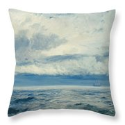Storm Brewing Throw Pillow by Henry Moore