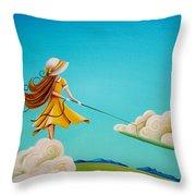 Storm Development Throw Pillow by Cindy Thornton