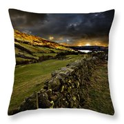 Storm Over Windermere Throw Pillow by Meirion Matthias