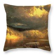 Stormy Skies Above Echo Lake White Mountains Throw Pillow by Fairman California