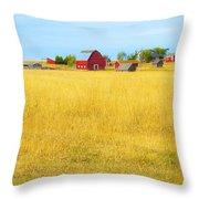 STORYBOOK FARM Throw Pillow by Theresa Tahara