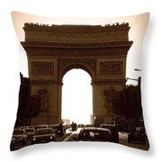 Streets Of Paris Throw Pillow by Kamil Swiatek