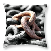 STRONGer TOGETHER Throw Pillow by Joanne Brown