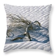 Struggle To Survive Throw Pillow by Sandra Bronstein