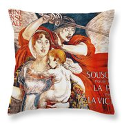 Subscribe To Hasten Peace By Victory Throw Pillow by Paul Albert Besnard
