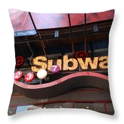 SUBWAY Throw Pillow by ROB HANS