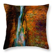 Subway's Fault Throw Pillow by Chad Dutson