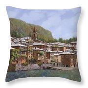 Sul Lago di Como Throw Pillow by Guido Borelli