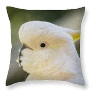 Sulphur Crested Cockatoo Throw Pillow by Sheila Smart