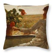 Summer Evening Throw Pillow by Childe Hassam