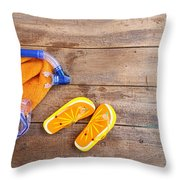 Summer Fun Background Throw Pillow by Sandra Cunningham